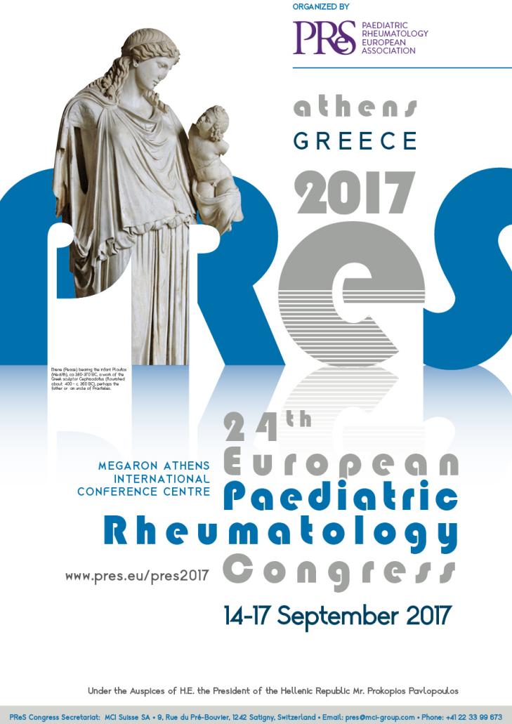 24th Paediatric Rheumatology Congress (PRES 2017) -as local DMC